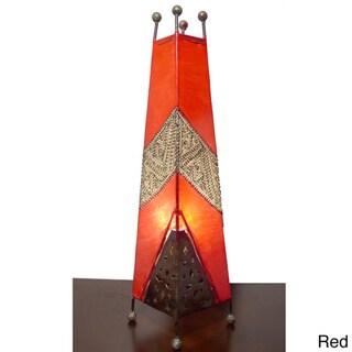Genuine Leather Safi Table Lamp (Morocco)