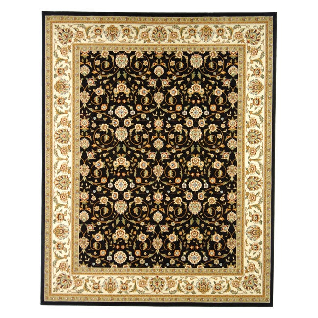 Lyndhurst Collection Traditional Black/ivory Oriental Rug (33 X 53)