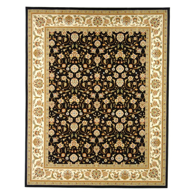 Lyndhurst Collection Traditional Black/ivory Oriental Rug (8 X 11) (BlackPattern OrientalMeasures 0.375 inch thickTip We recommend the use of a non skid pad to keep the rug in place on smooth surfaces.All rug sizes are approximate. Due to the difference
