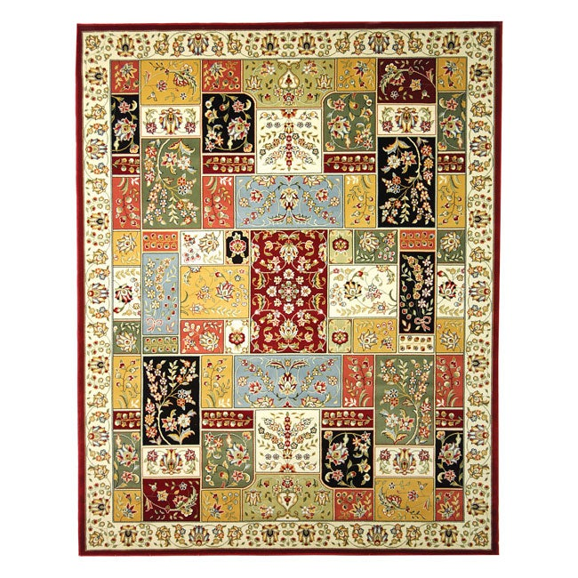 Lyndhurst Collection Traditional Multicolor/ Ivory Rug (8 X 11) (MultiPattern OrientalMeasures 0.375 inch thickTip We recommend the use of a non skid pad to keep the rug in place on smooth surfaces.All rug sizes are approximate. Due to the difference of