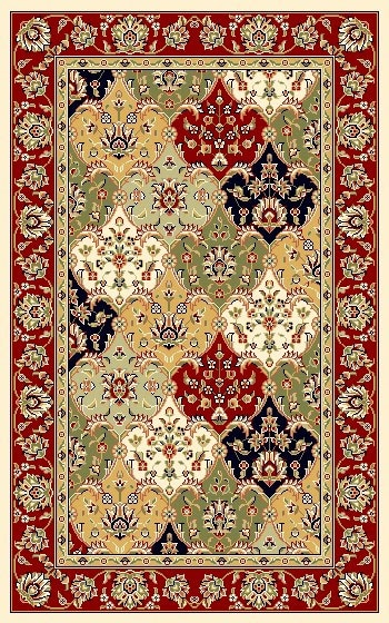 Lyndhurst Collection Traditional Multicolor/red Rug (33 X 53)