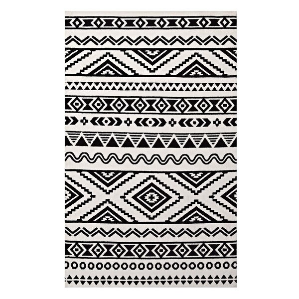 Black And White Geometric Rugs For Sale: Shop Haku Geometric Moroccan Tribal Area Rug