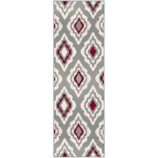 "Superior Designer Diamond Runner Rug - 2'7"" x 8'"