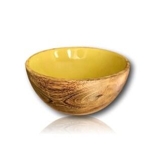 Handmade Mini Mango Wood Bowl - Mini Fruit Bowl and Side Dish Bowl
