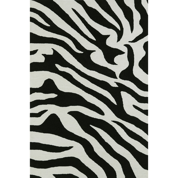 Addison Malia Animal Print Black/White Zebra Area Rug