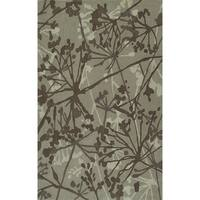 Addison Rugs Zenith Contemporary Floral Brown/Ivory Wool-blend Area Rug (5' x 7'6)