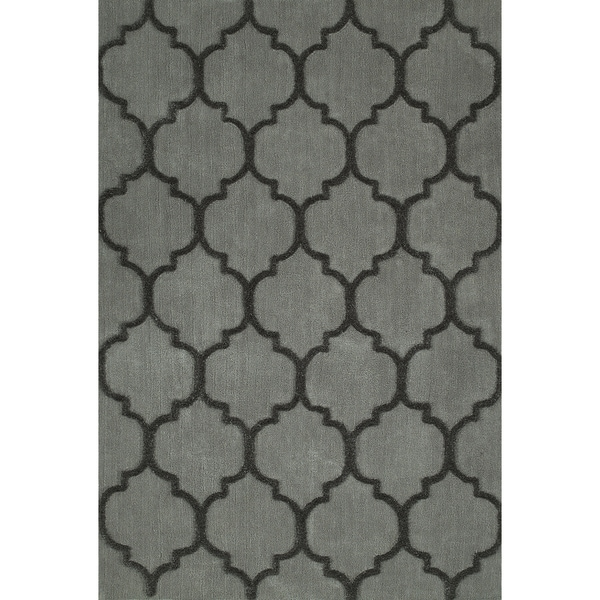 Addison Rugs Chase Grey Black Moroccan Trellis Area Rug