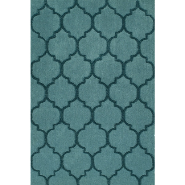 Shop Addison Chase Cerulean/Teal Moroccan Trellis Plush