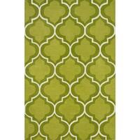 Addison Rugs Optics Moroccan Trellis Lime Green/White Area Rug
