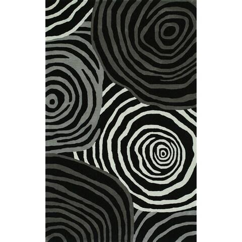 Addison Zenith Bold Geometric Night/Grey Area Rug