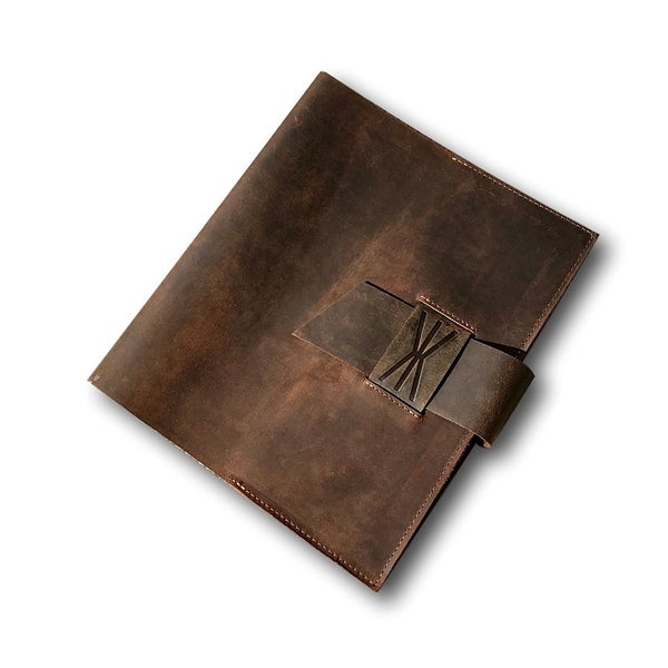 Kauri Handmade Leather Journal Wrap - Genuine Leather Journal, Diary, and Notebook Cover. Opens flyout.