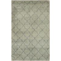 Arshs Arya Kosmo Light Green/Grey Wool Hand-knotted Moroccan Area Rug (8'2 x 10'0)