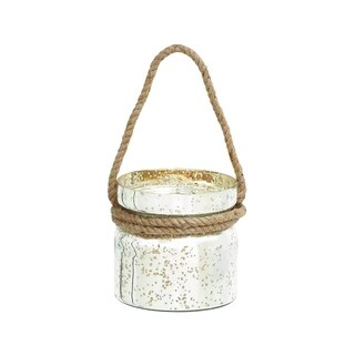 Attractive Styled Glass Rope Lantern By Woodland Import