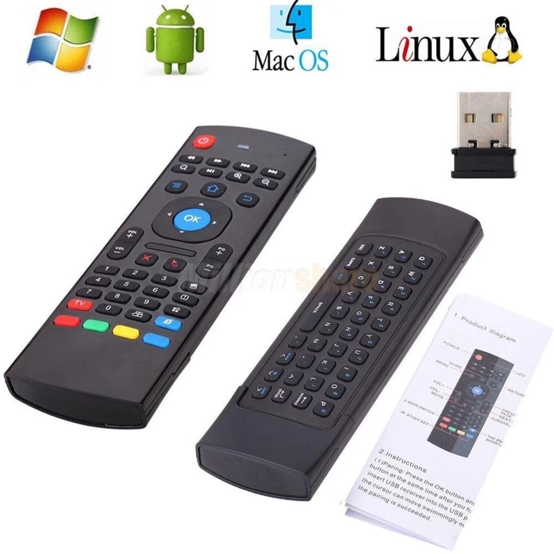 2 Wireless Air Fly Mouse Keyboard Remote Control Android ...