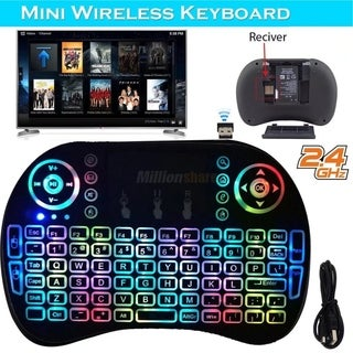 Mini Wireless Keyboard Mouse Touchpad Fr Android Smart TV Box PC US