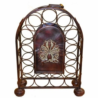 Traditional Style Metal Wine Rack, Bronze