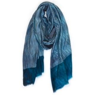Handmade Shibori Heather Scarf + Wraps