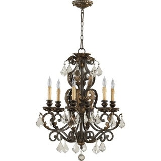 Rio Salado Toasted Sienna and Mystic Silver 6-light Chandelier