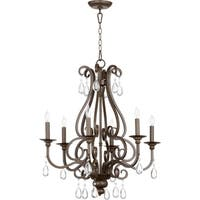 Anders Oiled Bronze 6-light Chandelier