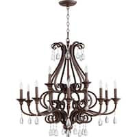 Anders Oiled Bronze 12-light Chandelier