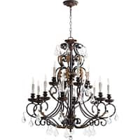 Rio Salado Toasted Sienna and Mystic Silver 12-light Chandelier