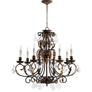 Rio Salado Toasted Sienna and Mystic Silver 8-light Chandelier