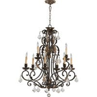 Rio Salado Toasted Sienna and Mystic Silver 9-light Chandelier