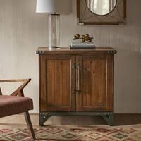 Ink+Ivy Lancaster Amber Wood/Graphite Metal 2-door Accent Cabinet
