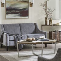 Madison Park Soni Grecy Metal and Wood Coffee Table