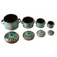Copper And Bronze Boxes, 'Grand Peru' (Set Of 4) (Peru)