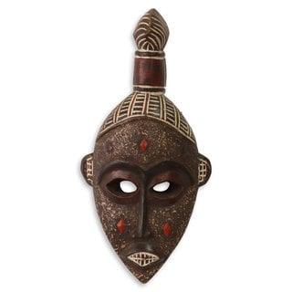 Ghanaian Wood Mask, 'Good Luck' (Ghana)