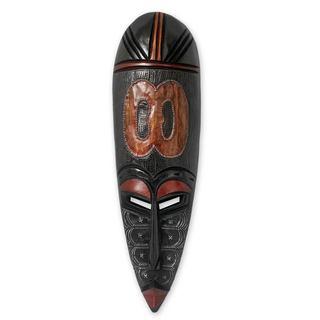 Ghanaian Wood Mask, 'God Is In The Heavens' (Ghana)