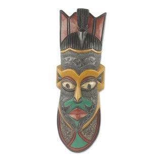 African Wood Mask, 'Hevi Vi' (Ghana)