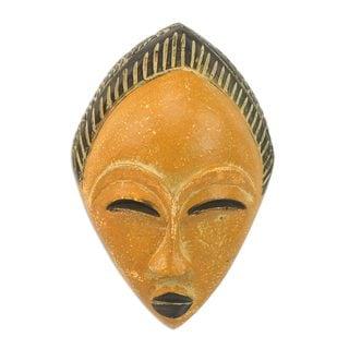African Wood Mask, 'Orange Adesewa' (Ghana)