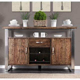 Carbon Loft Bern Rustic Wood Dining Server - 35 x 56 x 18