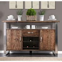 Carbon Loft Bern Rustic Wood Dining Server