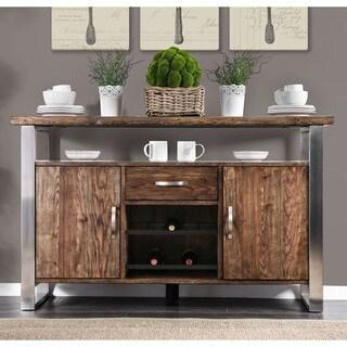Furniture of America Kelani Rustic Wood Dining Server