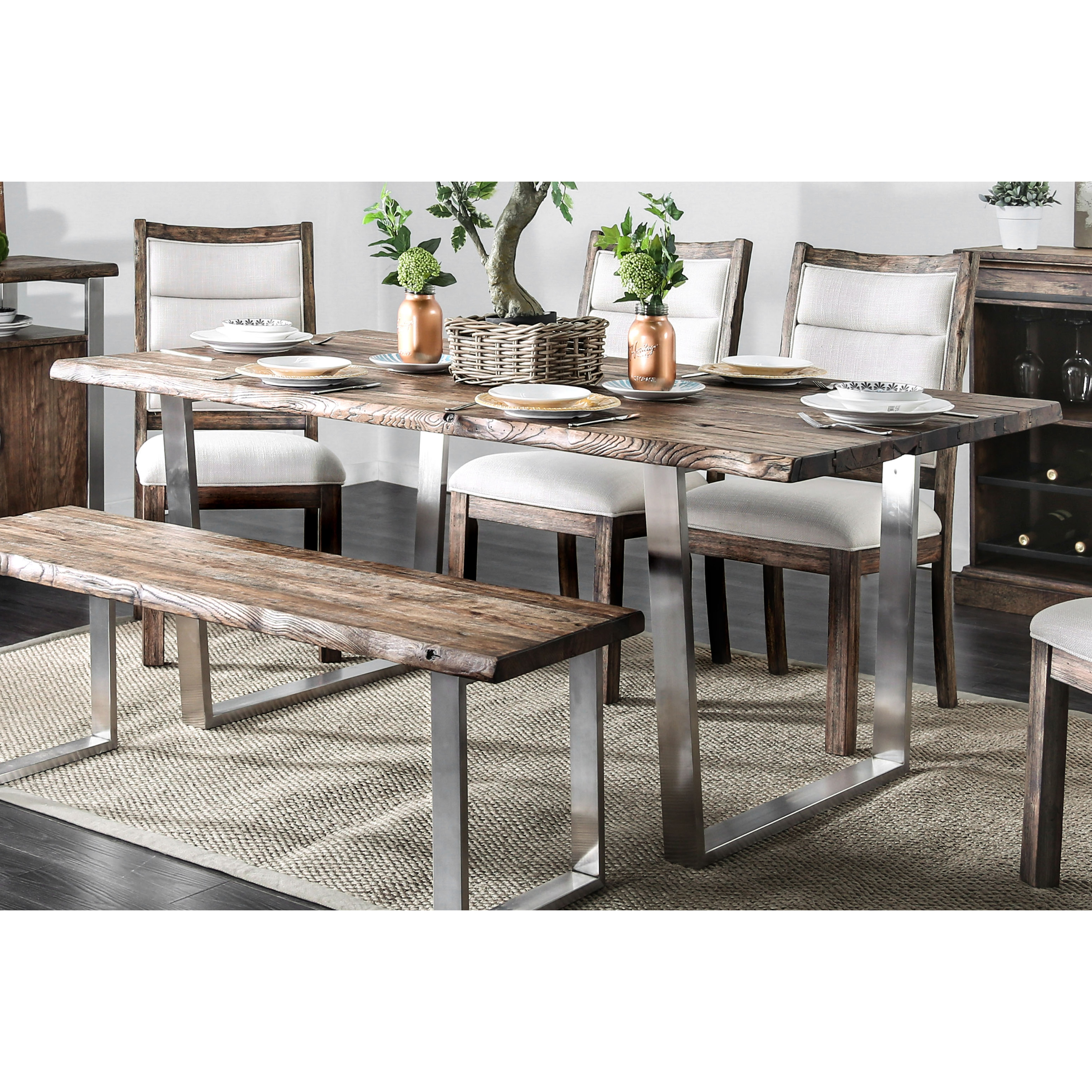 Carbon Loft Bern Rustic 76 Inch Dining Table