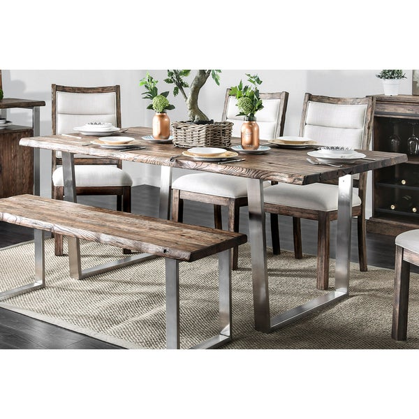 Rustic Kitchen Tables For Sale: Shop Furniture Of America Kelani Wood And Metal 76-inch