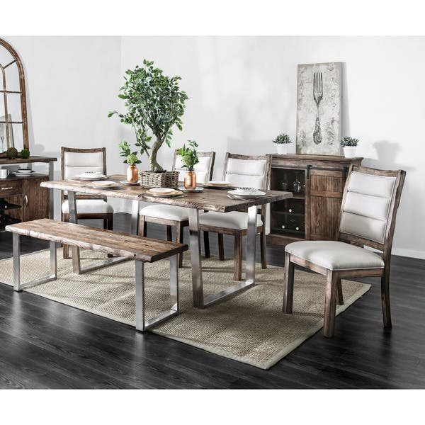 Carbon Loft Bern Rustic 76 Inch Dining Table On