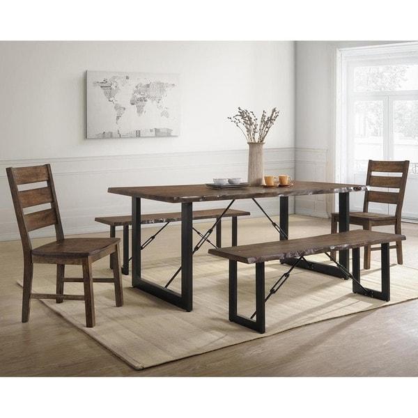 Overstock Clearance Furniture: Shop Furniture Of America Mass Rustic Walnut Solid Wood 5