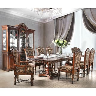 cherry dining room set. Furniture of America Tifanil Brown Cherry Wood  Veneer Traditional 9 piece Dining Set Finish Room Sets For Less Overstock com