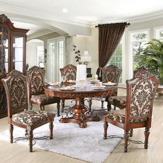 Furniture of America Tifanil Brown Cherry Finish 7-piece Wood Dining Set