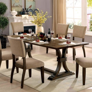 Furniture of America Jeferson Farmhouse Rustic Oak 80-inch Dining Table