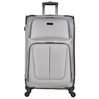 Kenneth Cole Reaction 'Lincoln Square' 28-inch Lightweight Expandable 4-wheel Spinner Suitcase (Option: Light Silver)