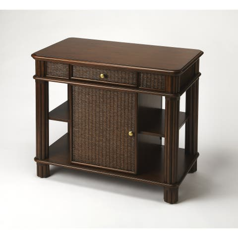 Handmade Falmouth Rattan Kitchen Island (Indonesia)