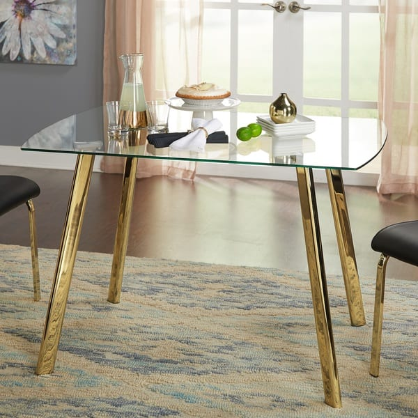 Simple Living Uptown Dining Table Gold On Sale Overstock 19384398