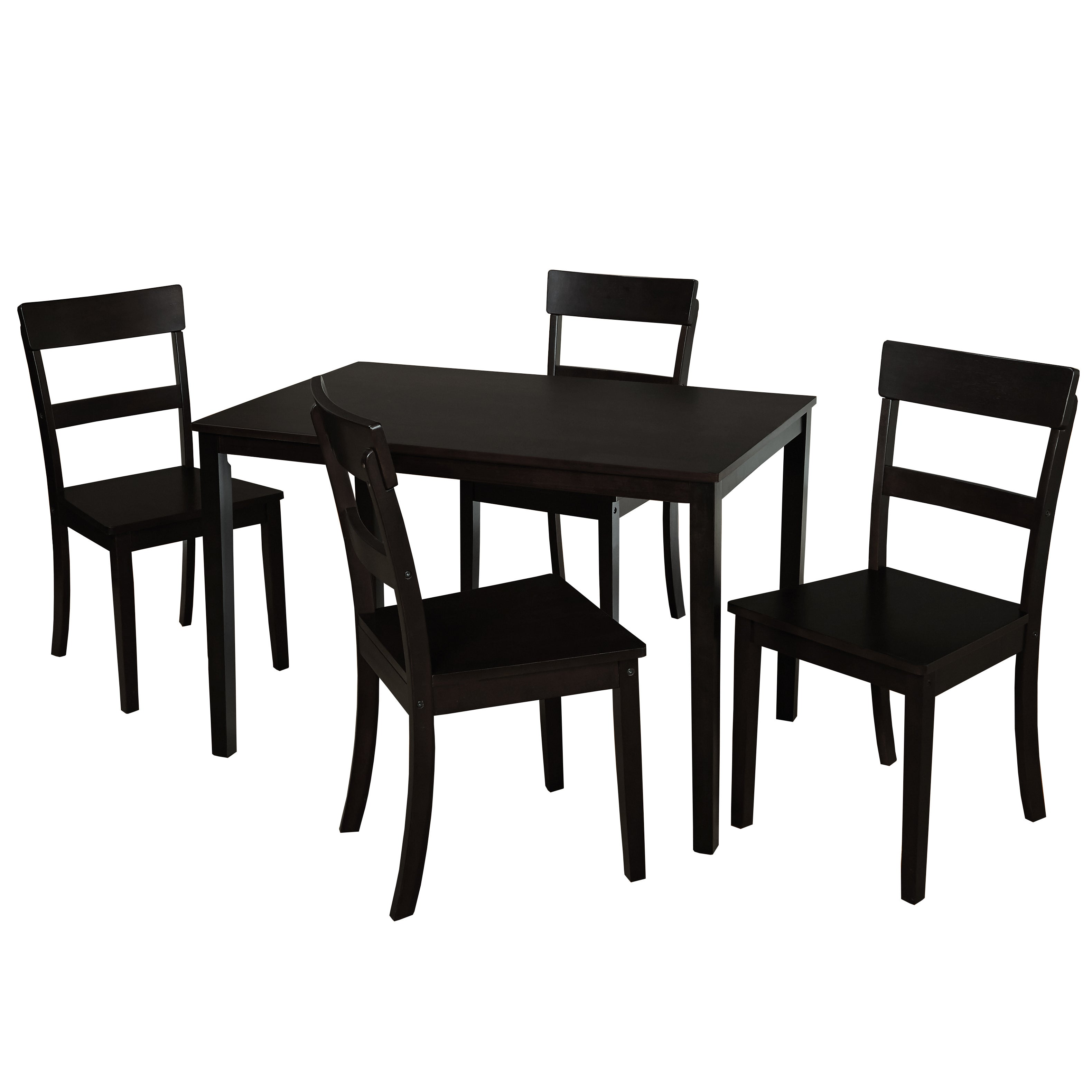 Simple Living Tristan 5 Piece Dining Set (Option: Tristan Dining Set   Black