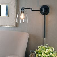 "Design Craft Edie 9.25"" Oil Rubbed Bronze Swing Arm Lamp"