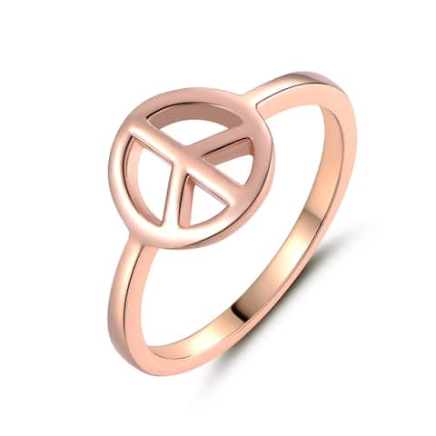Rose Gold Filled Peach Sign Ring
